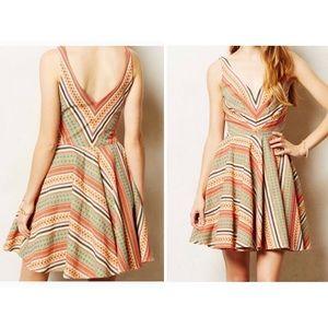 $228 Anthropologie Eva Franco Loma Stripe Dress